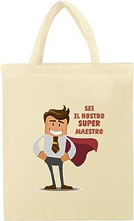 TENDYCOCO Shopping Bag in Rete di Cotone 3 Pezzi Riutilizzabile Borsa Shopper Tote Spesa in Rete con Manico Corto per Produrre Frutta Verdura