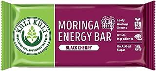 Kuli Kuli Moringa SuperFood Energy Bar, Black Cherry, 1.6 Ounce Bars (Box of 12) Vegan, Gluten-Free Energy Bar, Contains Half Cup of Leafy Greens, Chia & Pumpkin Seeds No Added Sugar, Convenient Snack