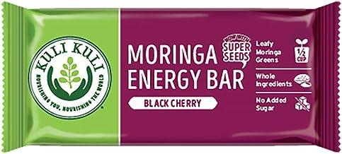 Kuli Kuli Moringa SuperFood Energy Bar, Black Cherry, 1.6 Ounce Bars (Box of 12) Vegan, Gluten-Free Energy Bar, Contains H...
