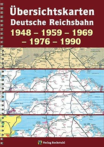 Übersichtskarten der DEUTSCHEN REICHSBAHN 1948 – 1959 – 1969 – 1976 – 1990: [Übersichtskarte 1969 zum Kursbuch der Deutschen Bundesbahn und der Deutschen Reichsbahn von gesamt Deutschland]