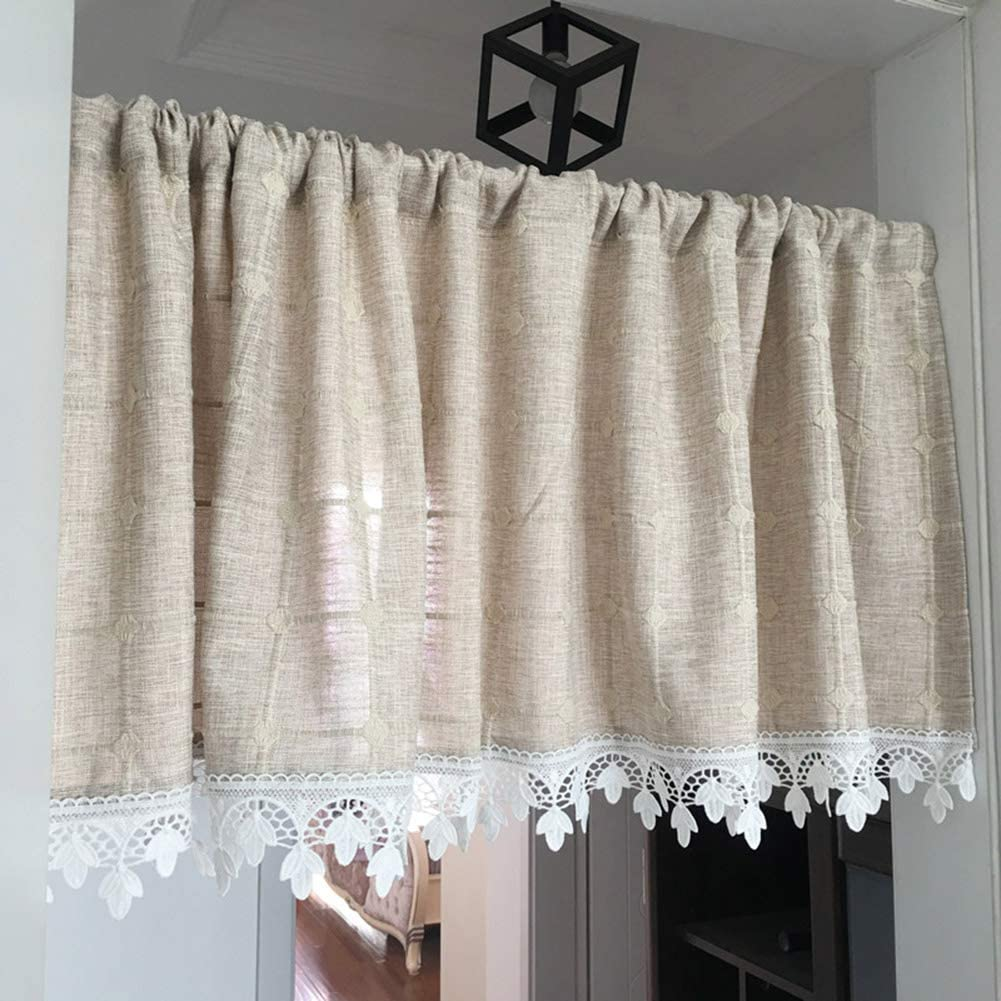 NEW before selling ☆ Tier Semi Sheer Deluxe Curtain Treatment Ti Voile Window
