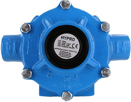 Hypro 7560C Cast Iron 8-Roller Pump, Viton Seals, Super Rollers Standard, Chemical Resistant, 22.5 GPM, 300 PSI, Max ...