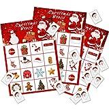 Gioco del Bingo di Natale Giochi di Bingo per Feste di Natale Bomboniere per 16 Giocatori Bomboniere (Stile 1)
