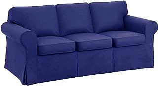 HomeTown Market Sofa Covers Custom Made for Pottery Barn PB Basic Three Seater Sofa Slipcover (PB Basic 3 Seat (Width: 82.5