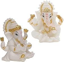 2pcs a estátuas Ganpati Elephant Deus hindu Senhor da Prosperidade Fortune Feng Shui Home Car Dashboard Decorações