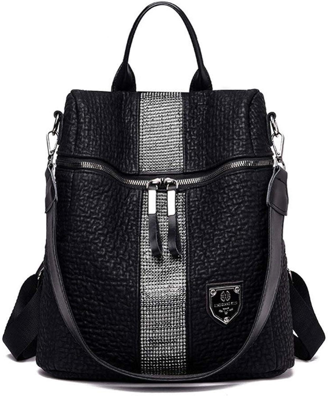 YKXY Backpack Female MultiFunction Leisure Travel AntiTheft Backpack Black Women Ladies Fashion Travel Shoulder Bag