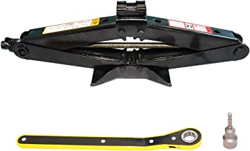EDOU Scissor Jack 2 Tons (4,409 lbs) Portable Jack,Including a Scissor Jack Socket Extension and a Ratchet Wrench