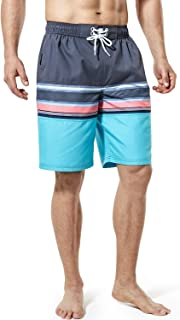 TSLA Men's 11 Inches Swimtrunks Quick Dry Water Beach