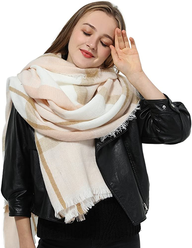 Blanket Scarves for Women Big Scarfs Opening large release sale New popularity Lattic Plaid Womens Checked