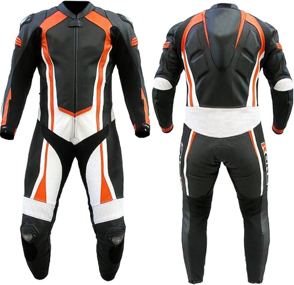 Sleekhides Men's Fashion MotorBike Real Leather Suit