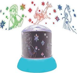 LEXIBOOK color-NLJ030F Disney Frozen Nocturna, quitamiedos con proyecciones del Reino de Hielo, luz Decorativa en color-NLJ030FZ, Color Azul