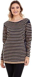 Blusa Tricot Listrada Cordão Mousse