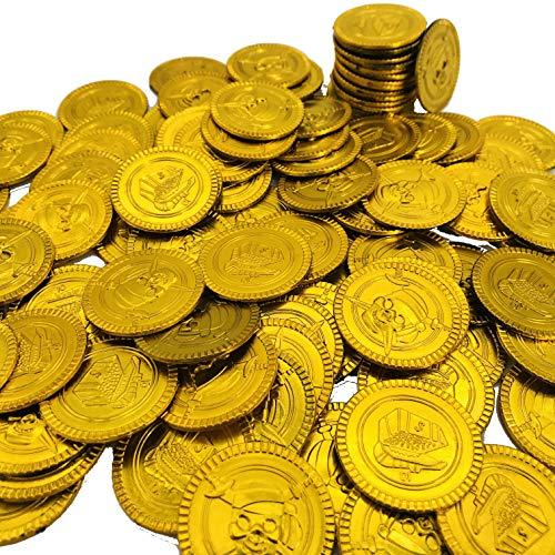 Carpeta® - 32 Piraten Gold - Münzen ┃ Gold-Taler ┃ Piraten Schatz ┃ Piraten Party ┃ Seeräuber ┃ Schatzsuche ┃ Kindergeburtstag