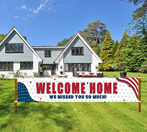 Welcome Home Banner, We Missed You So Much Banner, Deployment Returning Party Supplies, Military Army Homecoming Party Decorations