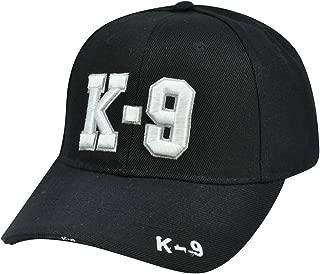 K-9 Police Unit Officer Gear, 3D Embroidered Adjustable Baseball Cap Hat,Black,Adjustable