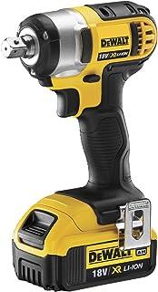 DeWalt 18V XR Li-Ion 1/2in Compact heavy-duty Impact Wrench, 2 x 4.0Ah Li-Ion Batteries & Charger, Yellow/Black, DCF880M2-...