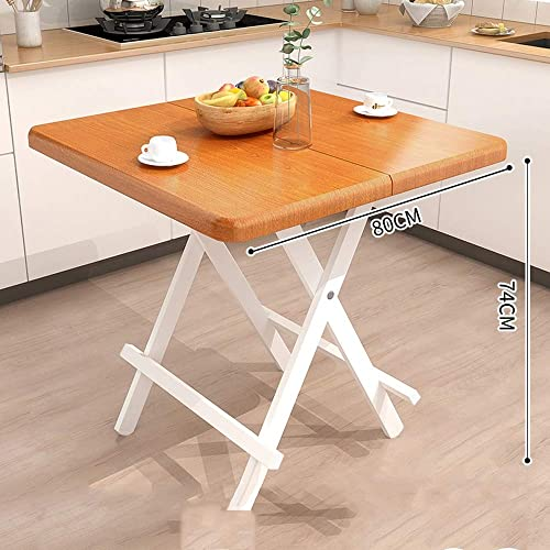 Table pliante ZB Simple Petite Table Carrée Maison Mange Table Portable Table Carrée Simple Table A+ (Couleur   B, Taille   80)