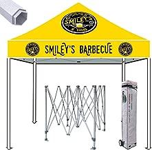 Eurmax Premium 10x10 Ez Pop up Canopy Commercial Tent Imprinted Fair Vendor Tent with Your Logo Bonus Roller Bag