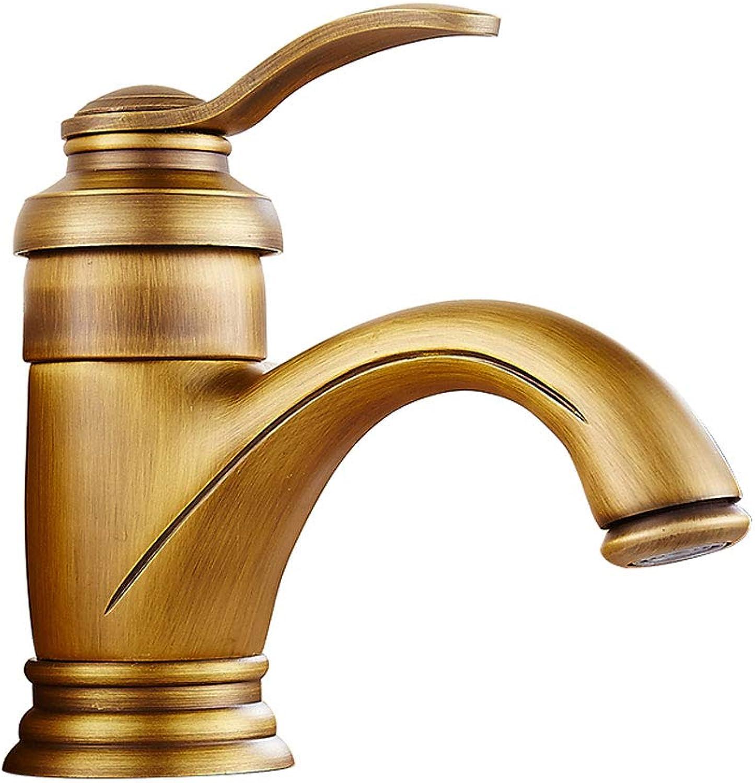 Kaiyu Antique Faucet Hot And Cold Retro Copper European Bronze Washbasin Washbasin Washbasin Faucet Household Washbasin