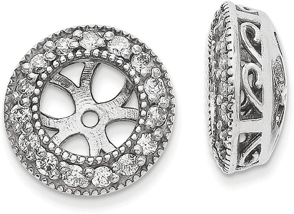 Solid 14k White Gold Lab Grown Diamond Earring Jackets (.3 cttw.)