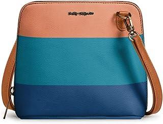DailyObjects Dark Triplet Trapeze Sling Crossbody Bag for girls and women | Vegan leather, Stylish, Sturdy, Zip closure wi...