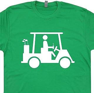 Funny Golf T Shirt Golfing Cart Graphic Tee Mens Women Golfer Drinking Beer Caddyshack 80s Movie