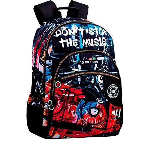 Montichelvo Montichelvo Double Backpack A.O. CG Music Bolsa Escolar, 32 cm, Multicolor (Multicolour)