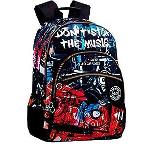617e3yYfU+L. SS300  - Montichelvo Montichelvo Double Backpack A.O. CG Music Bolsa Escolar, 32 cm, Multicolor (Multicolour)