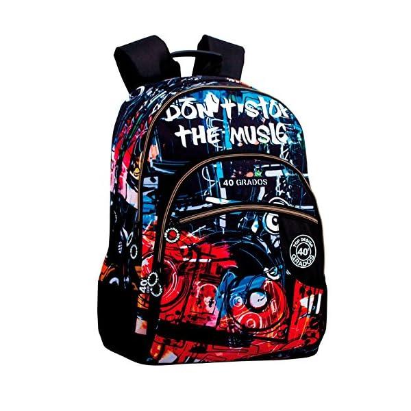 617e3yYfU+L. SS600  - Montichelvo Montichelvo Double Backpack A.O. CG Music Bolsa Escolar, 32 cm, Multicolor (Multicolour)