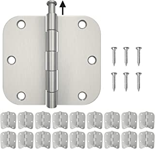 HOSOM 18-Pack Door Hinges Brushed Nickel 3.5, Interior Door Hinges with 5/8 Radius Corners