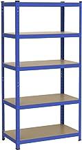 Yaheetech Rek voor zware lasten, 180 x 90 x 45 cm, insteekrek, 1325 kg, blauw, gepoedercoat metalen rek, kelderrek