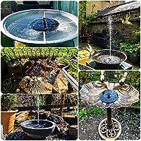 Solar Fountain Pump, 6 Nozzles Solar Water Fountain Powered Fountain, Floating Solar Powered Water Fountain Water Pump…