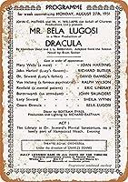 Shimaier 壁の装飾 メタルサイン 1951 Bela Lugosi As Dracula in London ウォールアート バー カフェ 縦20×横30cm ヴィンテージ風 メタルプレート ブリキ 看板