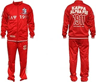 Kappa Alpha Psi Divine 9 S3 Mens Jogging Suit Set [3XL - Crimson Red]