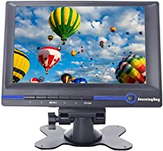 Sourcingbay 7 Inch HD TFT LCD Monitor 800x480 16:9 Built-in Speaker with HDMI VGA AV Audio Input for Car Computer