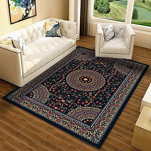 Teppich Thin Bereich Teppich Polyester Bodenmatte mit rutschfestem Schutzträger for Entryway studyroom Schlafzimmer Wohnzimmer Sofa Bettvorleger European Style Wohnkultur Teppich-Bereichs-Wolldecke Wo