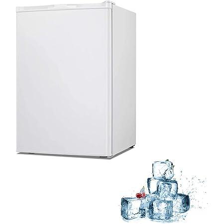 Electactic Mini Chest Freezer Countertop 3.0 Cu.ft Small Freezer Upright Compact Upright Freezer with Reversible Single Door,Removable Shelves Free Standing Mini Freezer White