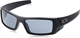 Oakley Men's Gascan Rectangular Sunglasses, Matte Black /Grey, 60mm