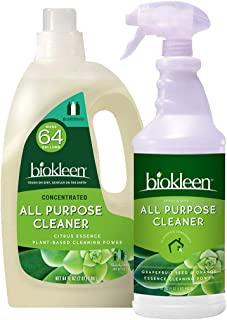 Sponsored Ad - Biokleen Natural All Purpose Cleaner - 32 Ounce Trigger and 64 Ounce Refill - Super Concentrated, Eco-Frien...