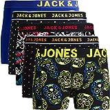 JACK & JONES Herren 5er Pack Boxershorts Mix Unterwäsche Mehrpack,5er Pack Bunt 6 Ohne Wäschesack,L