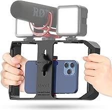 ULANZI U Rig Pro Smartphone Video Rig، Movie Case، تثبیت کننده فیلم تلفن، گرفتن فیلم سه بعدی برای Videomaker Film Maker Video-grapher برای آیفون Xs XS Max XR آیفون X 8 Plus سامسونگ