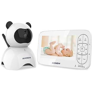 Campark Babyphone B/éb/é Moniteur vid/éo Cam/éra avec optique num/érique avec vision nocturne infrarouge 2,4LCD Transmission sans fil 2,4 GHz Capteur de temp/érature son bidirectionnel