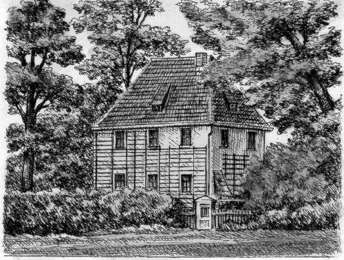 Kunstverlag Christoph Falk Einfarbige Radierung Weimar, Goethes Gartenhaus als Loses Blatt