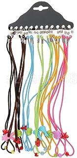 HFLON - 12 Unids Niños Nylon Elástico Cadena De Anteojos Cordón Gafas De Lectura Gafas De Sol Gafas Collar Sostenedor Del Cordón Para Niños Niñas