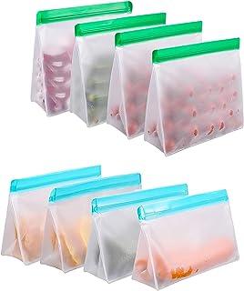 Insputer Sacs Legumes Reutilisable Sacs Sandwich Ziplock Sac Réutilisable pour Voyages et Cuisine Sac a Pain de Congélatio...