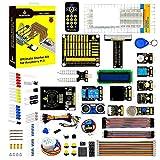 KEYESTUDIO para Raspberry Pi 4 Starter Kit GPIO Tablero, 1602 ICD, Mando/Joystick, Cable GPIO de Cinta, Breadboard 830 Puntos, Jumper Wire con Raspberry Pi 4 Module B 2 3 B+ Modelo