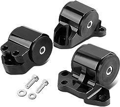 For Honda Civic/Acura Integra B & D Series MT 3pcs Billet Aluminum 3-Bolt Engine Mount Kit (Black)