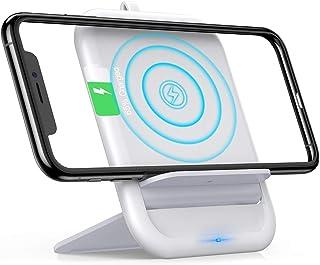 Andobilワイヤレス充電器 Qi急速充電器【Qi認証/PSE認証済み】折り畳み式スマホワイヤレス充電器 置くだけ簡単充電iPhone XS/XS Max/XR/X / 8 / 8 Plus、Galaxy S9 / S9+ / S8 / S8+、その他Qi対応機種 各種対応(ホウイト)