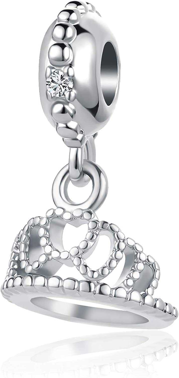 DWJSu New Cute Crown Charm for Charms Bracelets Necklace for Women