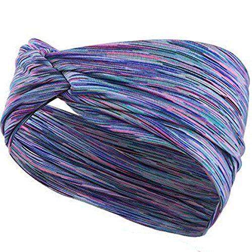 KelaSip Damen Stirnbänder Frauen Elastische Stirnband Yoga/SPA Haarband Weiche Turban-Kopf-Verpackungs Sport Kopftuch